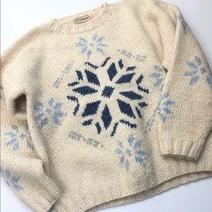 Snowflake wool sweater classic